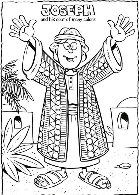 Joseph And His Coat Coloring Page Sunday School Coloring Pages Sunday School Activities School Coloring Pages