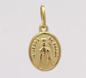 1299a828a1382 Pingente Menino Jesus de Praga Pequeno Ouro Amarelo 18k 750