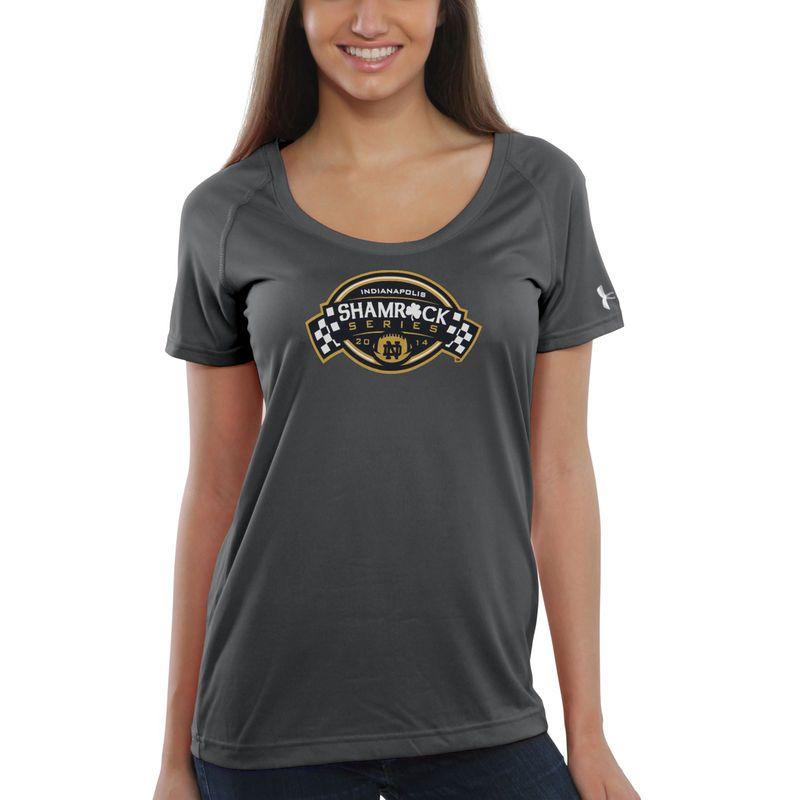 Notre Dame Fighting Irish Under Armour Women s 2014 Shamrock Series Tech  Performance T-Shirt - Gray 4982c1643