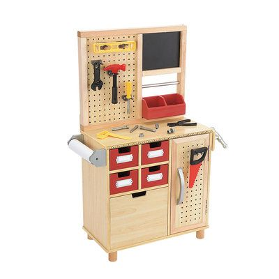 One Step Ahead Kid S Toy Wooden Tool Work Bench Wooden Work Bench Kids Tool Bench Kids Workbench