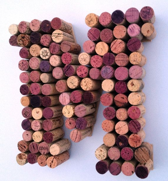 Real Weddings Cork: Wine Corks Letter M Made From Real Wine Corks! Cork