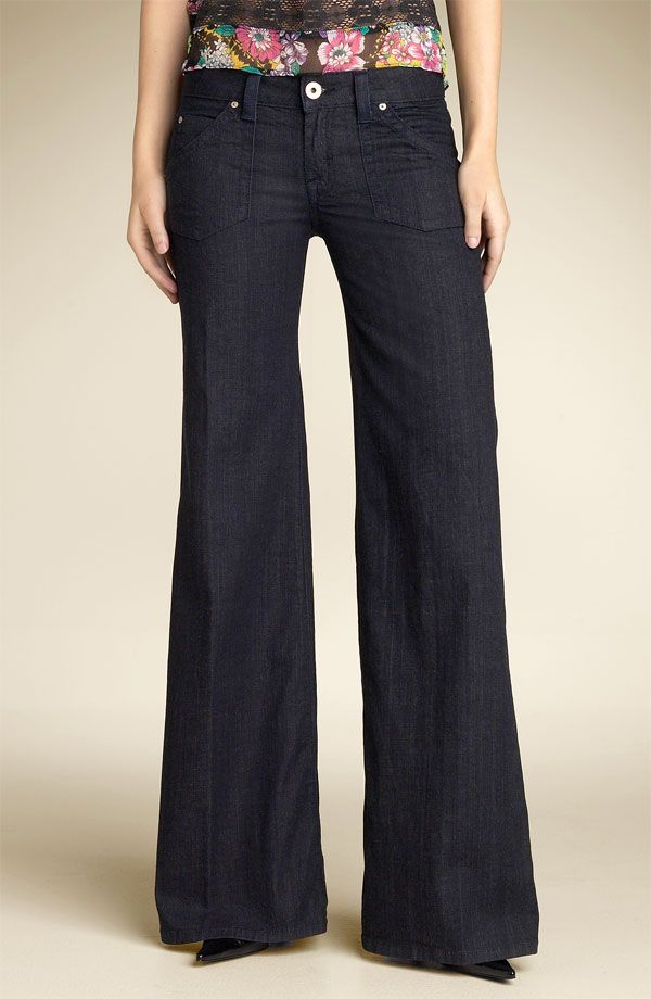 wide leg pants for women | ProductWiki: Hudson Wide Leg Stretch ...