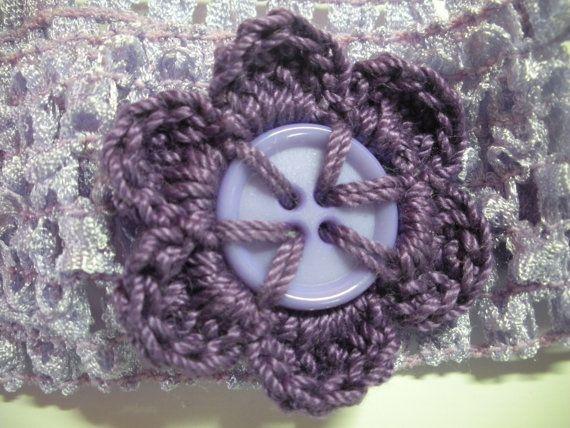 light purple headband with dark purple by GabbyAbbyCrafts on Etsy