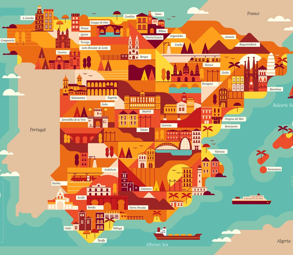 Explore the corners of the earth with our latest selection of explore the corners of the earth with our latest selection of editorial maps working in a flat graphic style we depicted various cities and countries from gumiabroncs Choice Image