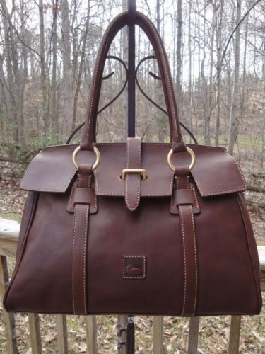 Dooney Bourke Florentine Leather Tab Collar Satchel Handbag 8l675 Ebay