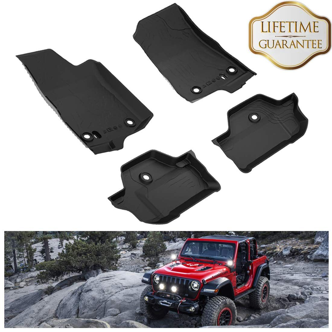 Kiwi Master Floor Mats Compatible For Wrangler Jl 2018 2019 New