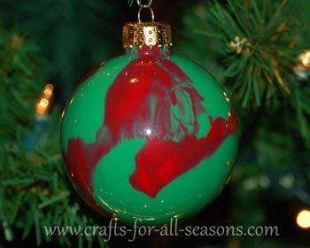 Decorating Glass Ball Ornaments Try Making These Ornamentsdropping Some Paint In A Glass Ball