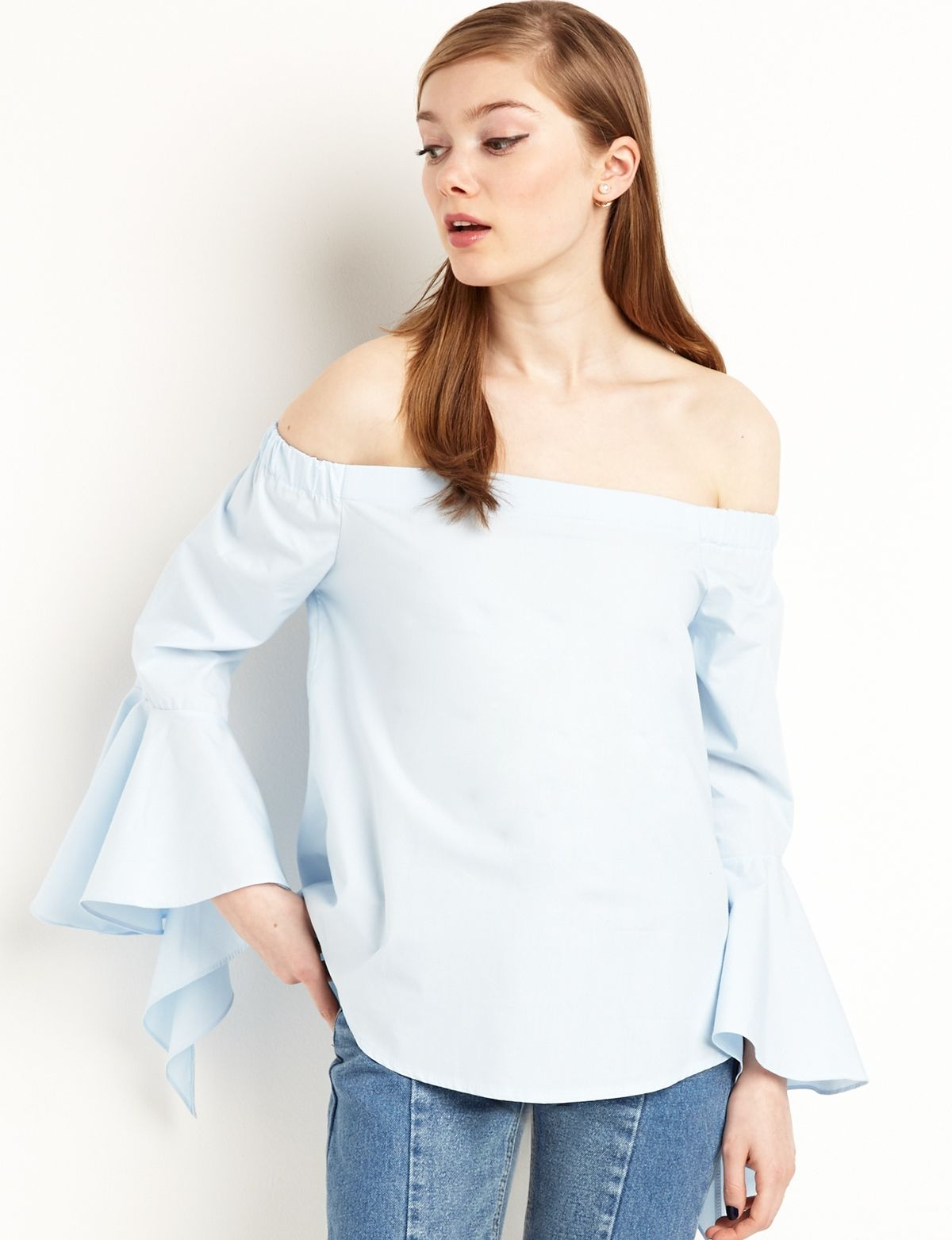 Summer 2016 Staples Now Up on   Ruffle sleeve, Light blue and Ruffles