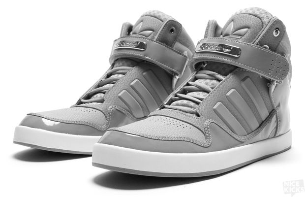 Adidas Mens Originals Shoes High Tops Leather Grey