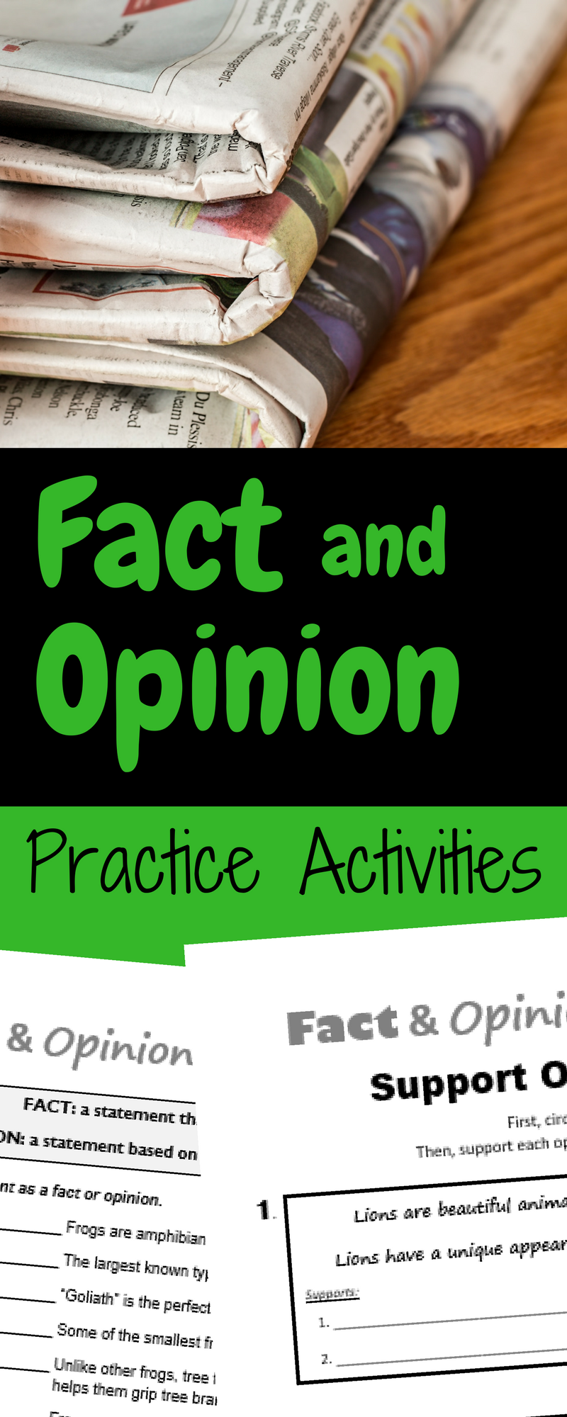 Fact and Opinion Practice Quizzes - Review this important nonfiction  reading skill after …   Fact and opinion [ 2000 x 800 Pixel ]