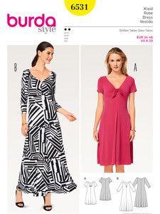 Burda Style Neuheiten Kleid Shirtkleid Jerseykleid Nahen