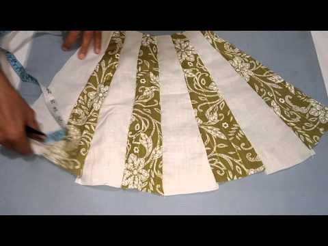 964e45df17 How to cut and sew A line dress step by step process easy way for beginners  FROCK   3 - YouTube