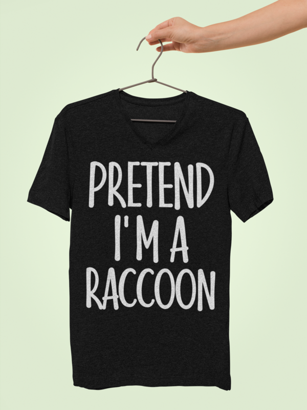 Vintage Easy Costume Gifts Ideas for Men/Woman - Pretend I'm Raccoon T-Shirt. Amp up collection of accessories: squash spooky decor, vampire ghost costume, bracelet, sweatshirt, scary face head mask, decorations. This Tshirt - Funny present for creepy mummy, monster, aunt, zombie, mother, buddy, husband on new year, Christmas. #easycostumesformen Vintage Easy Costume Gifts Ideas for Men/Woman - Pretend I'm Raccoon T-Shirt. Amp up collection of accessories: squash spooky decor, vampire ghost cost #easycostumesformen