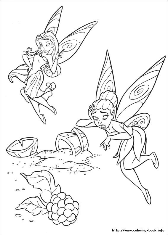 Tinkerbell coloring picture | Tinkerbel Ria. | Pinterest | Colorear