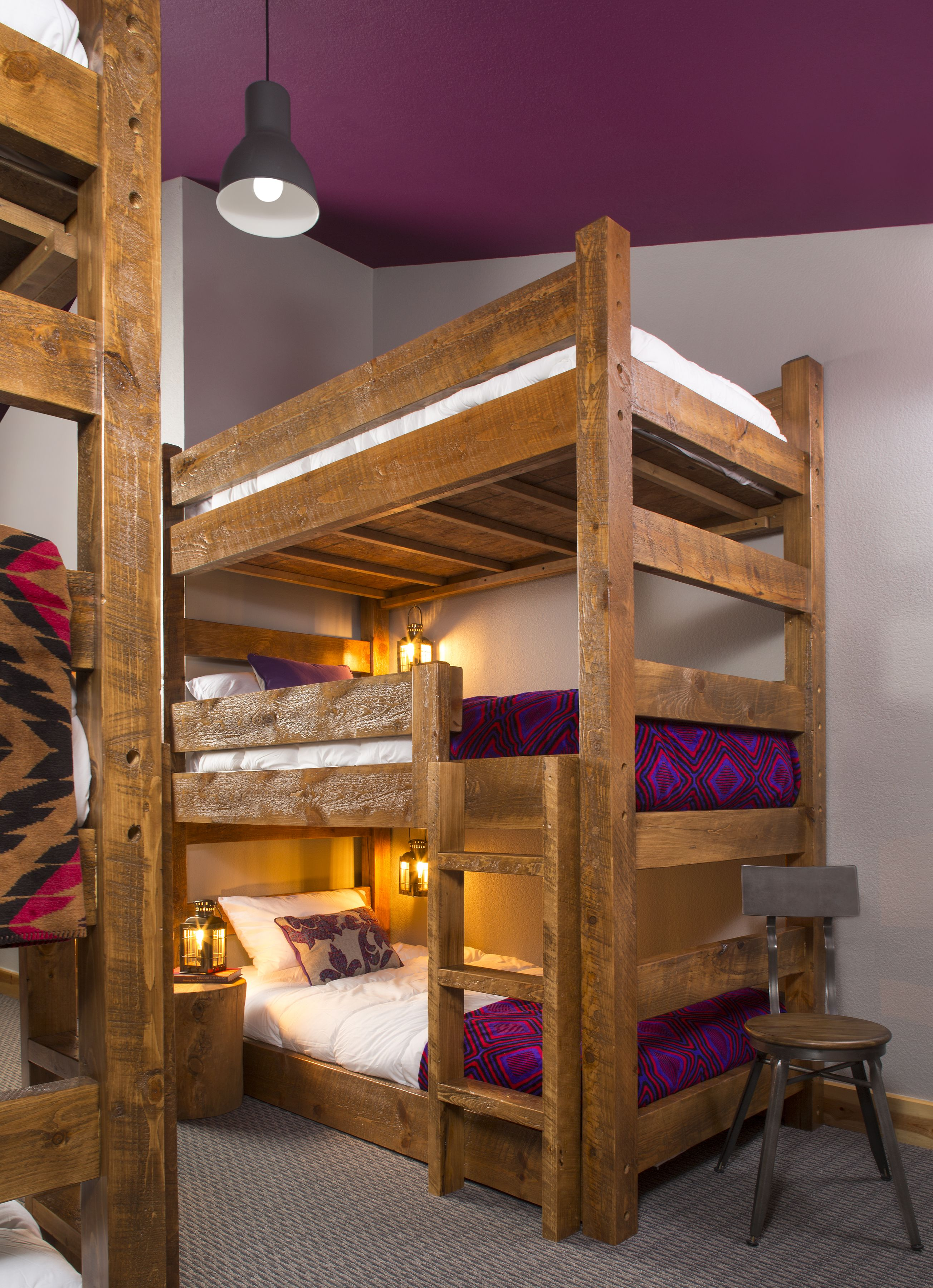 Bunk bed in hostel room hostel triple bunk beds cool - Cool beds for sale ...