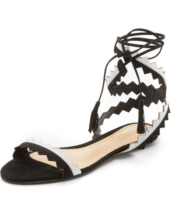 37d1cadd395 Schutz Leila Ankle Wrap Sandals - ShopStyle Women