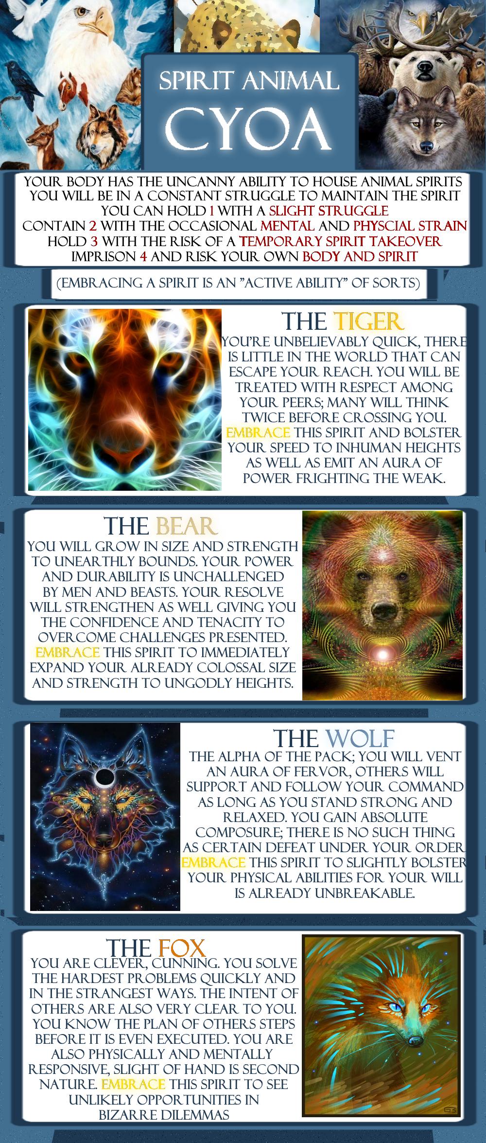Animal Spirit CYOA in 2020 Cyoa, Spirit animal, Create