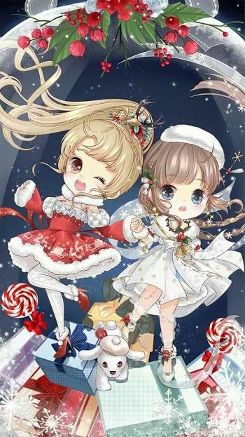 Couple bạn thân Google Drive Anime, Song sinh, Giáng sinh