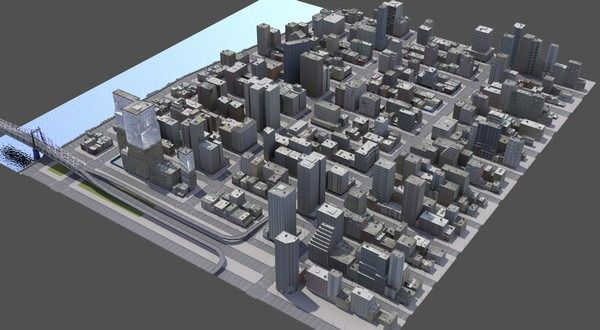 Download Abstract New York City Cityscape free 3D model or browse