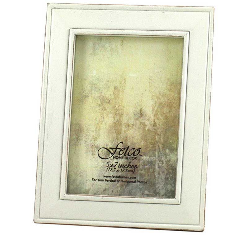 Fetco Home Décor F464457 Longwood Frame, Rustic White | Living Room ...