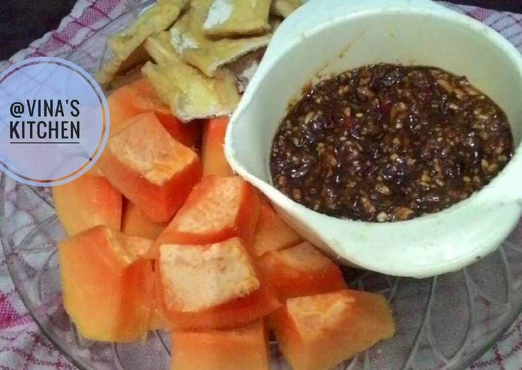 Resep Sambal Rujak Buah Alakadar Oleh Vina Septiana Resep Makanan Dan Minuman Makanan Buah