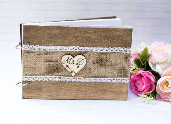 Personalizzato matrimonio Guest Book matrimonio di HappyWeddingArt