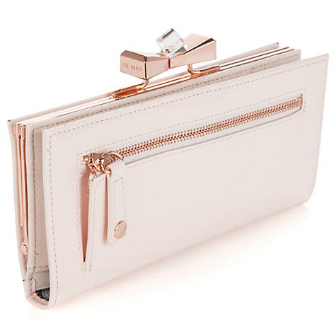 bddf02b36eacfa Buy Ted Baker Franny Bow Leather Matinee Purse Online at johnlewis.com