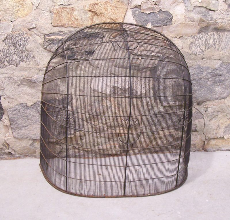 18th To Early 19th Century Wire Fireplace Screen 8411 › Antique ...
