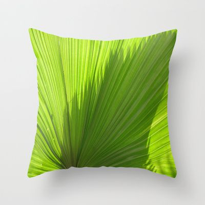 Palm Series IV Throw Pillow by Rosie Brown - $20.00