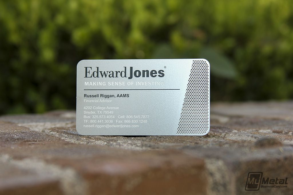 Edward Jones Business Card #metalbusinesscard #edwardjones ...