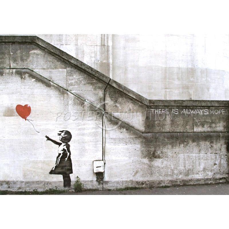 Balloon Girl Always Hope Banksy Canvas