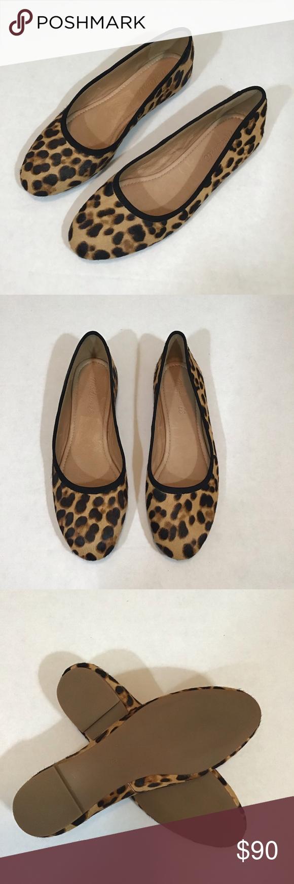 Reid Ballet Flat in Leopard Calf Hair