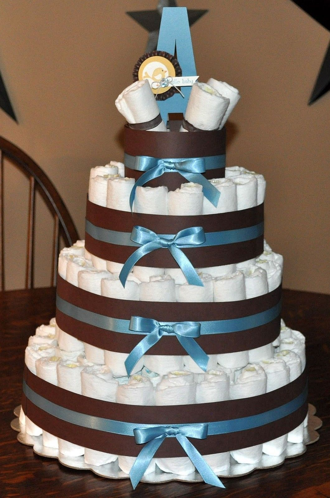 Diaper cake instructions free baby shower diapers baby