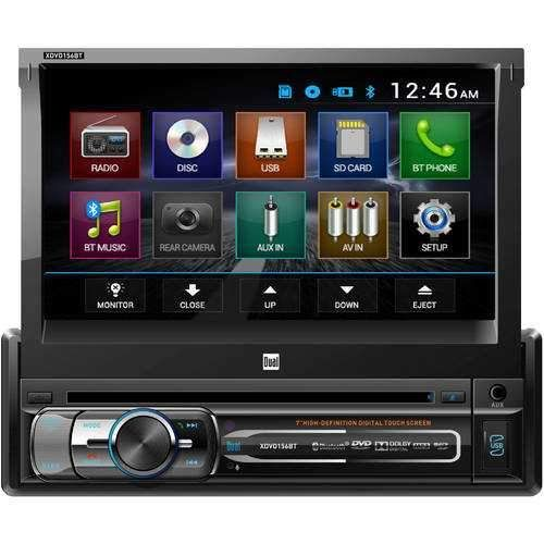 Dual 7 Single Din In Dash Dvd With Motorized Touchscreen