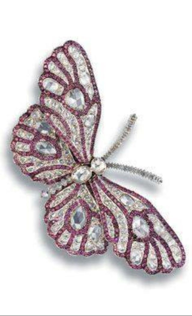 1fb85c9a5be Overstock.com: Online Shopping - Bedding, Furniture, Electronics, Jewelry,  Clothing & more. Pre-owned Gold Pink Sapphire and 8 TDW Diamond Butterfly  Pin ...