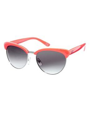 a0082ad077df4 Vans Semi Rimless Cateye Sunglasses in Orange