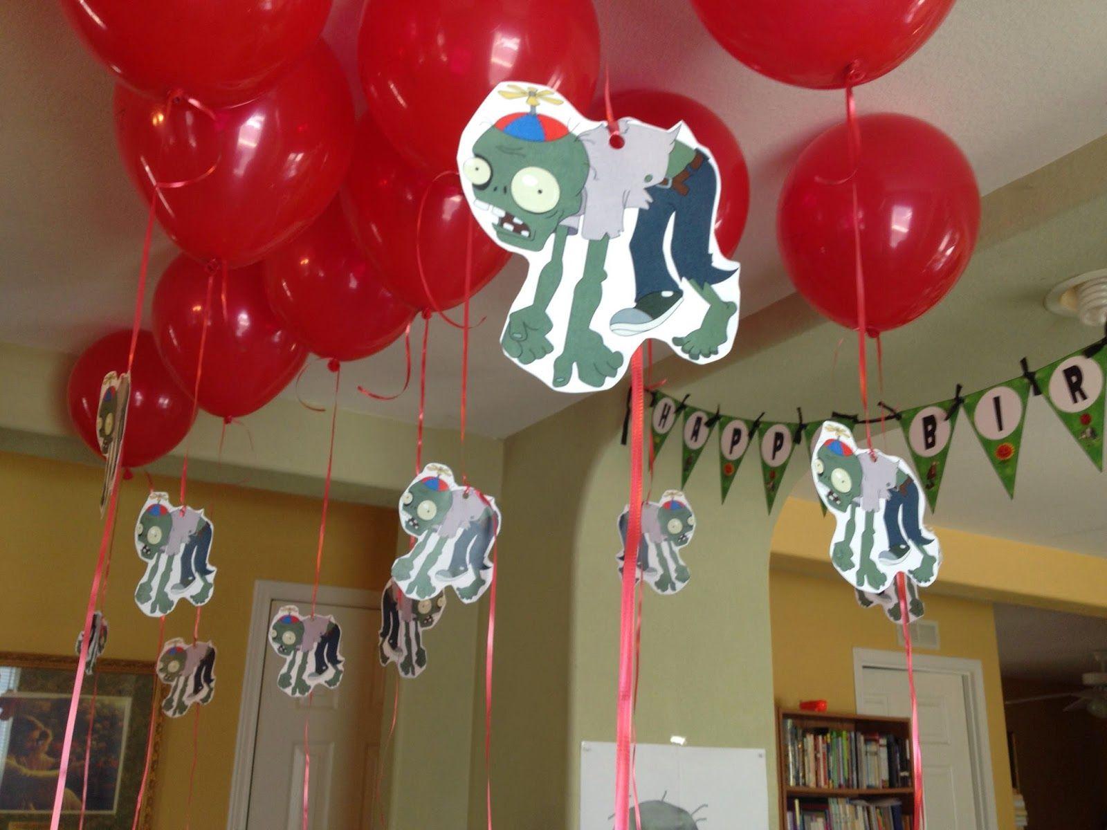 Cranberry Corner Conor S Plants Vs Zombies Party Party Ideas