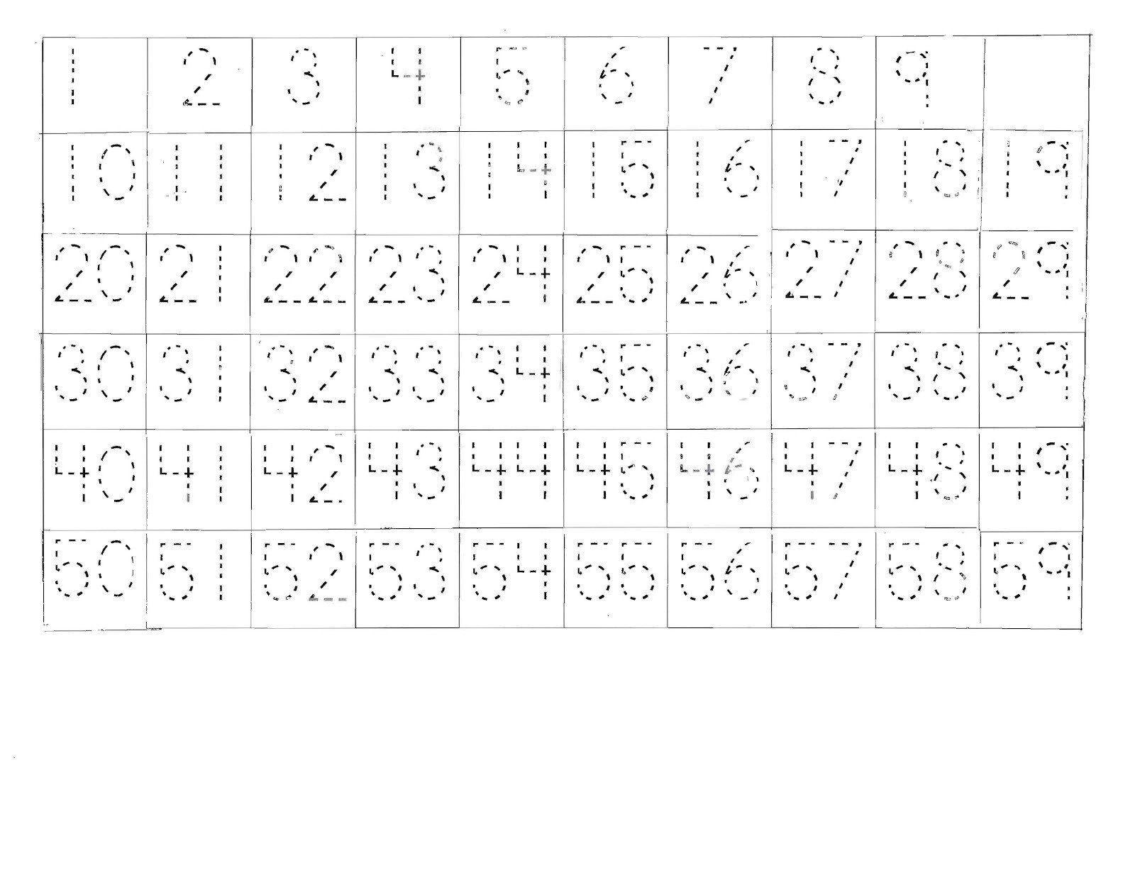 Number Tracing Worksheets 1 100 Tracing Chart Takota