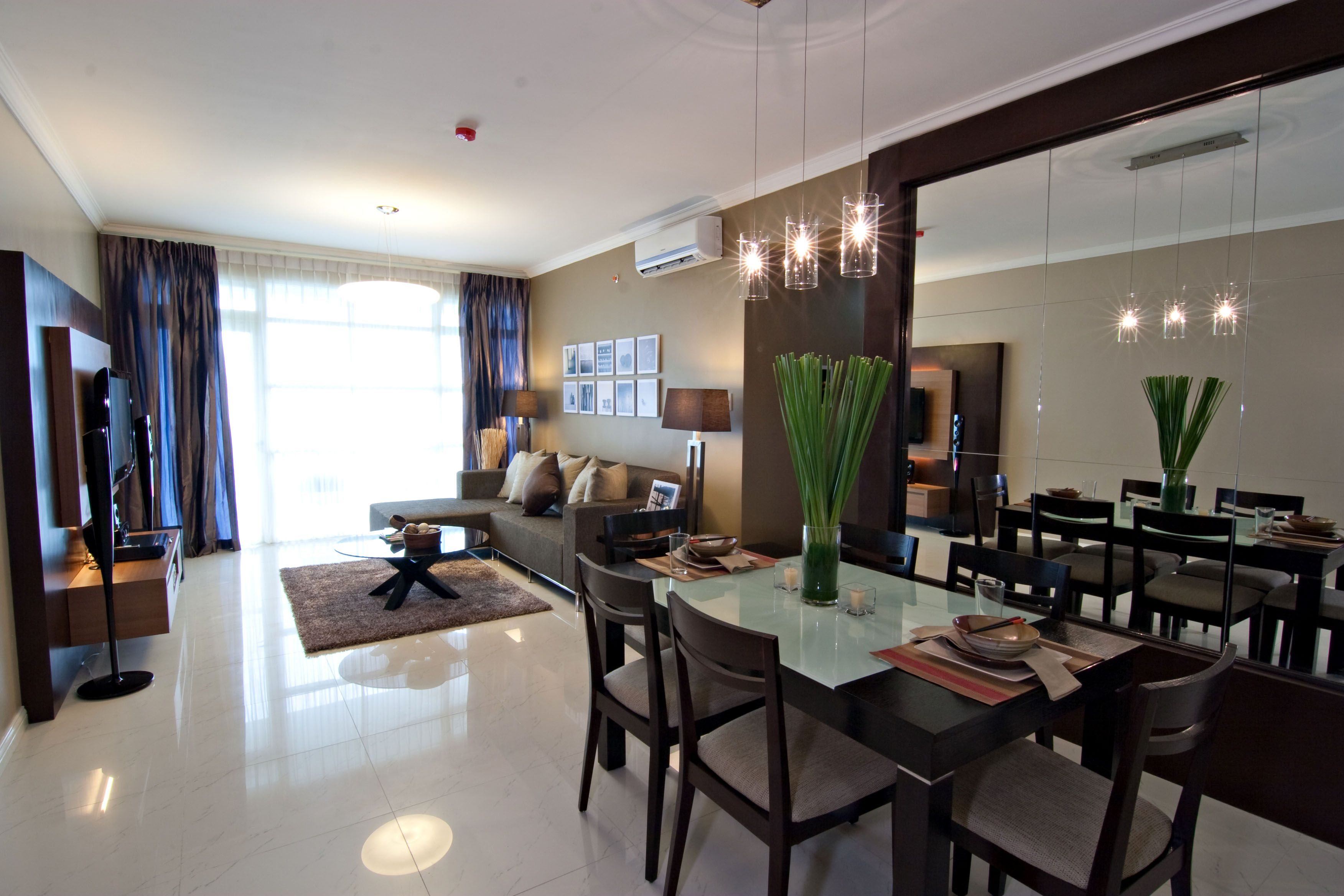 Citylights garden condominium by adrian del monte at for Condo living room design