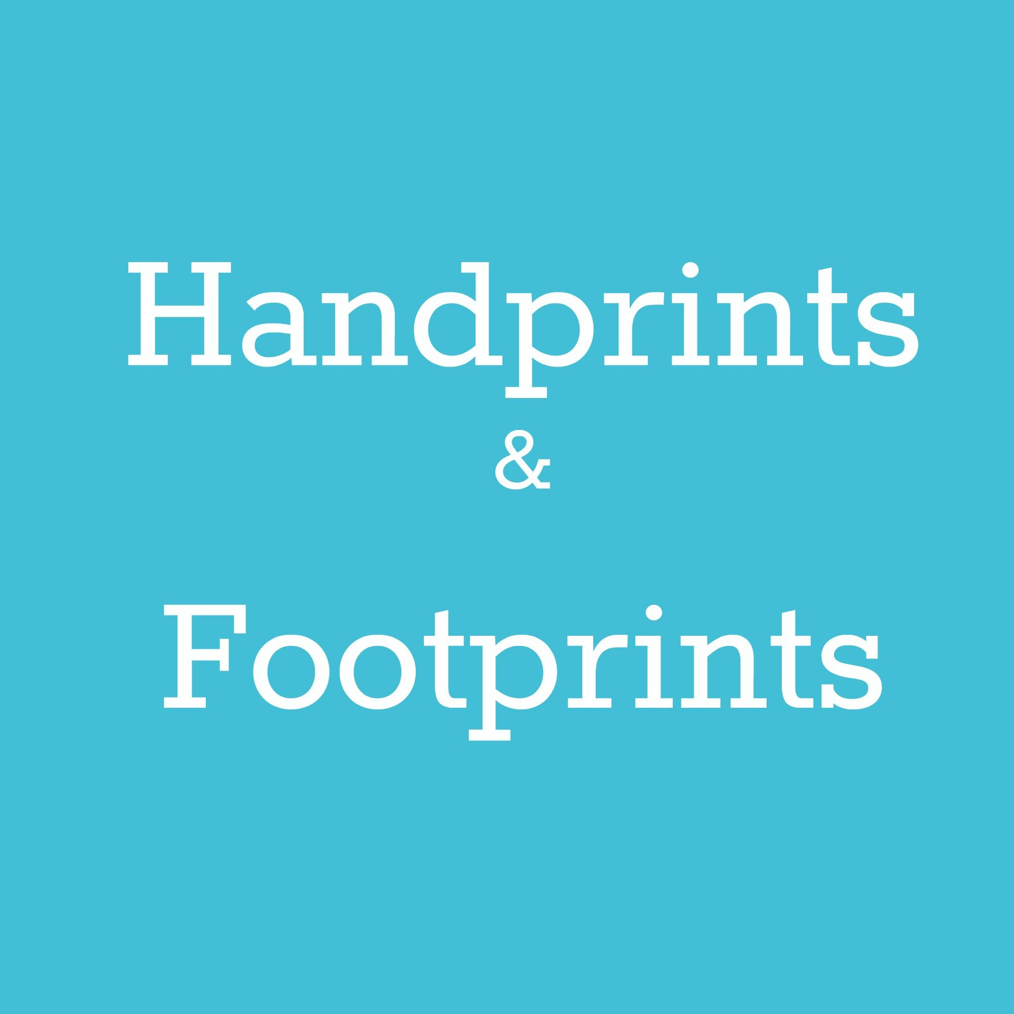 Preschool and baby handprints and footprints crafts for