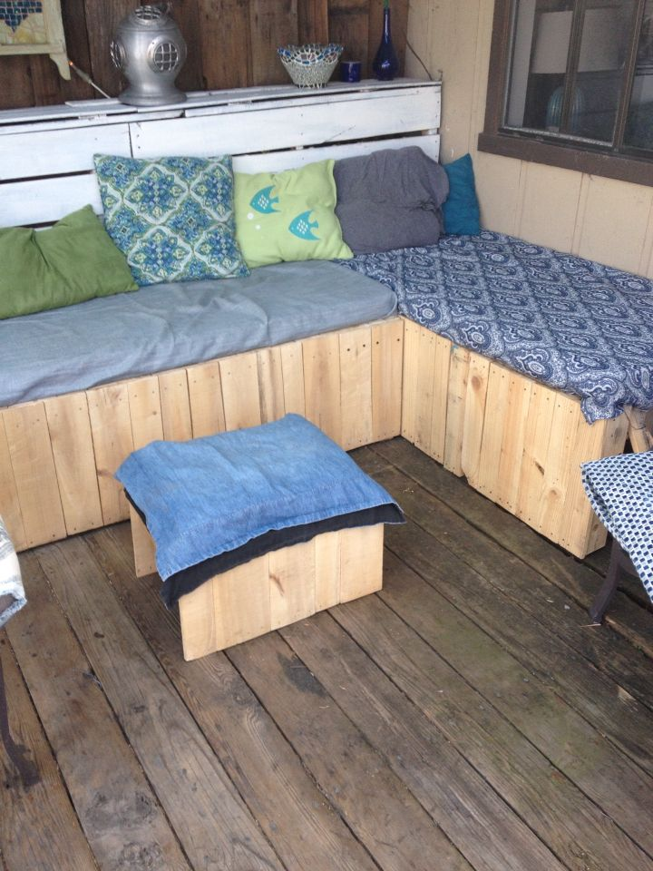2 Benches Made To Fit Free Foam Pads From Pallets They