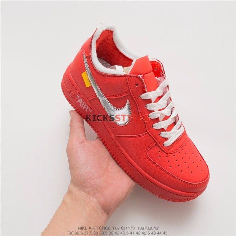 Custom Off-White x Nike Air Force 1 Red