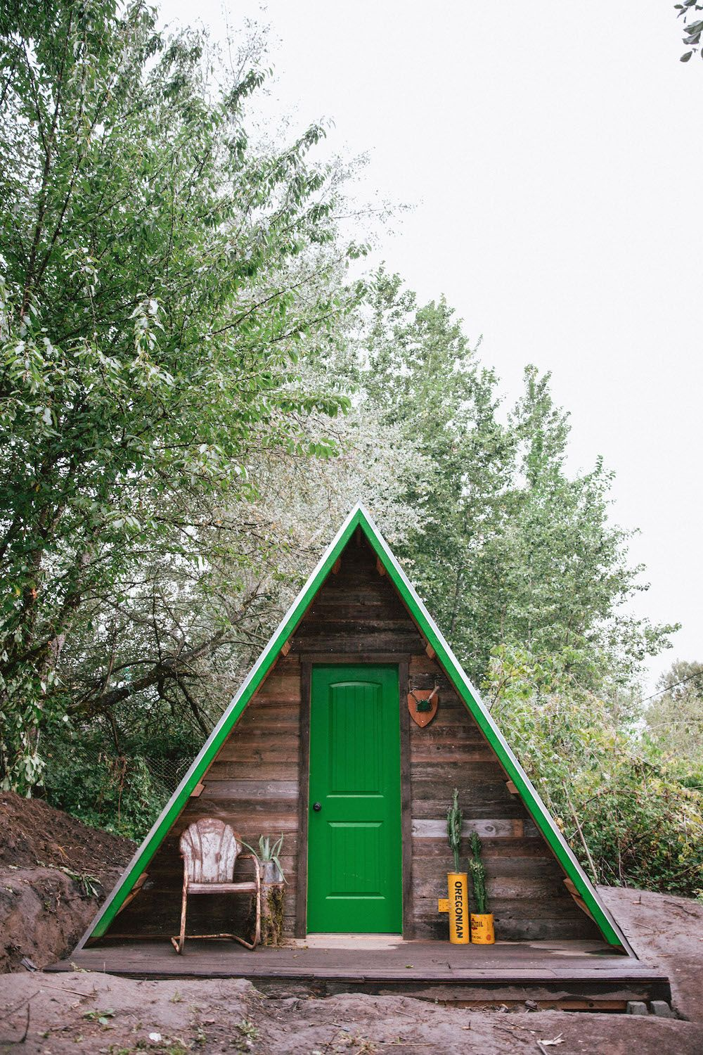 UO Journal: How to Build an A-Frame Cabin  Cabin. tiny house. 오두막  Pinterest ...