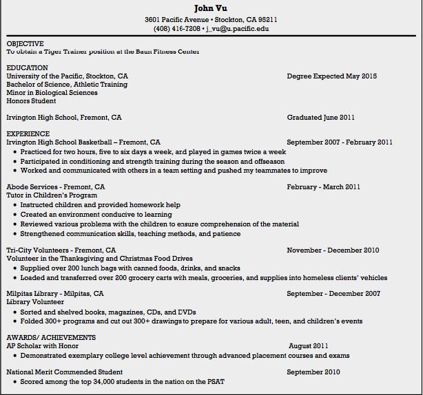 Tiger Trainer Resume Samples Examples Resume Cv