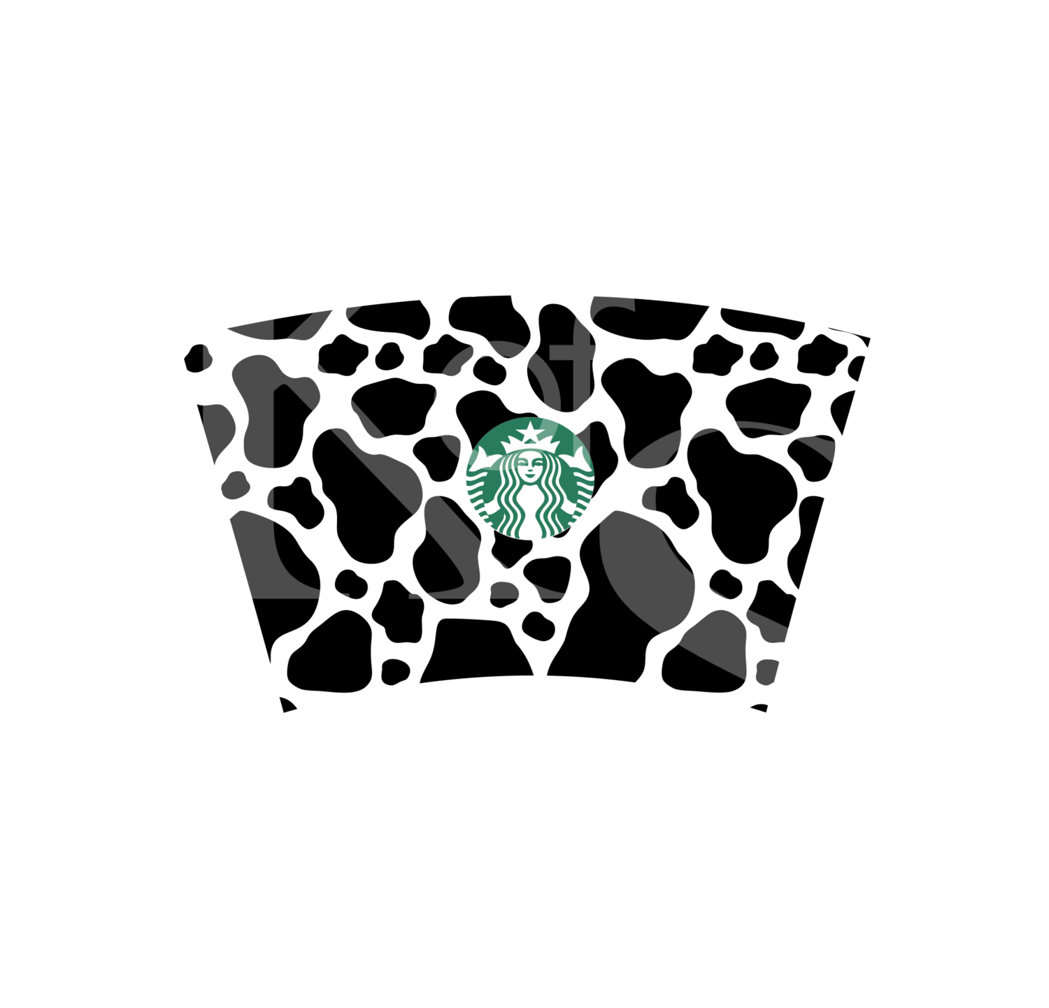 Animal Cow Print Full Wrap for Starbucks Venti Cold Cup 24 oz Cow Starbucks cup svg SVG  PNG file for Cricut digital dowlond