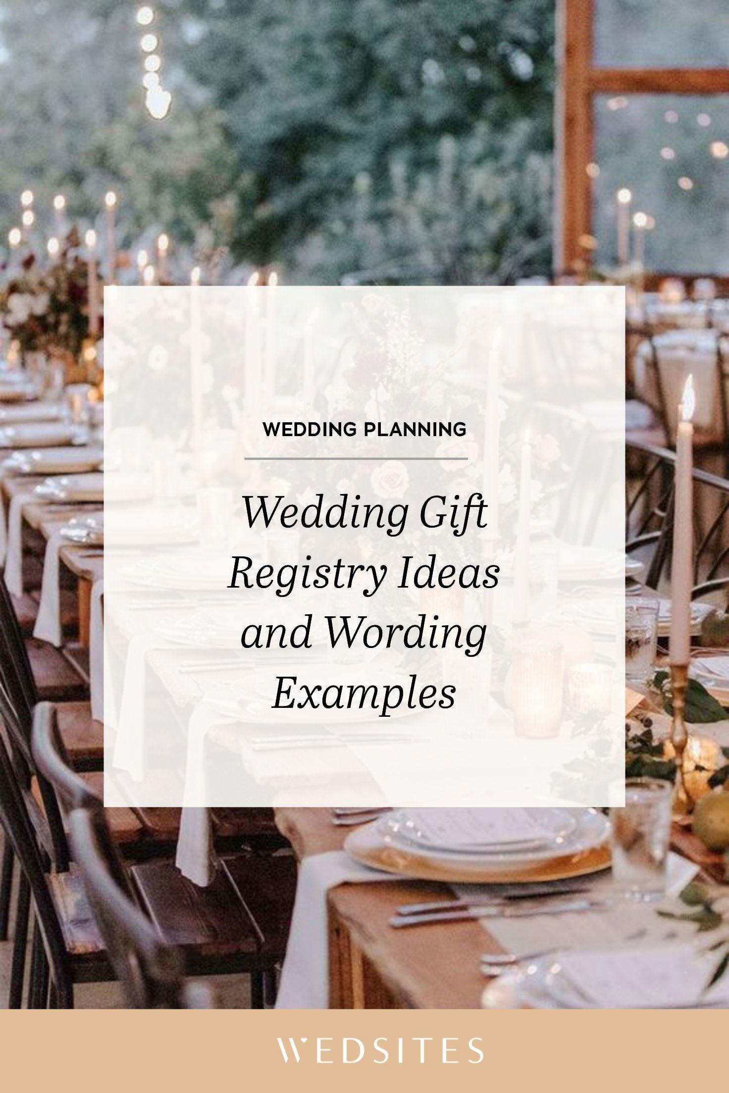 Wedding Gift Registry Ideas And Wording Examples In 2020 Online Wedding Planner Wedding Registry Advice Wedding Registry Examples
