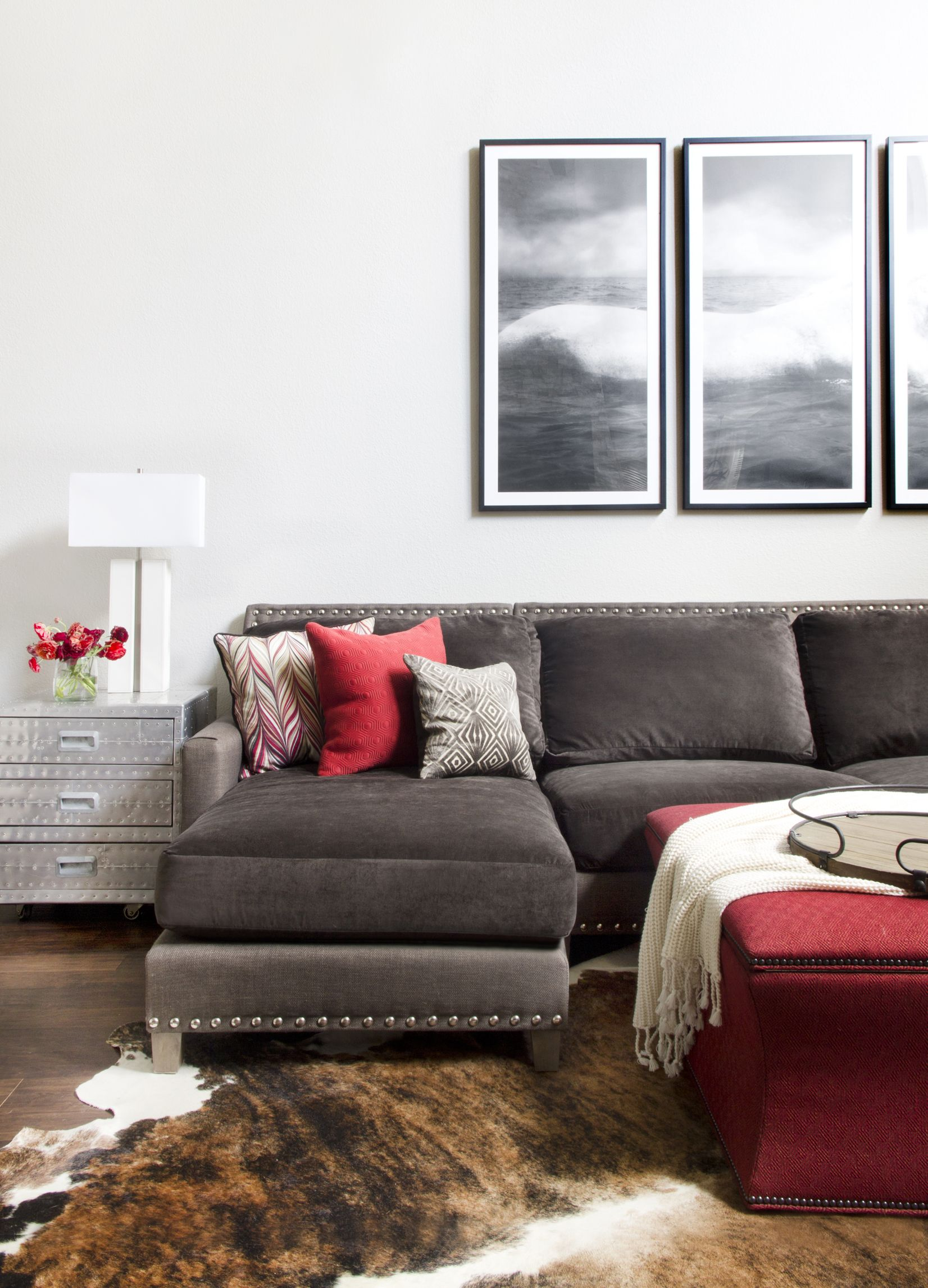Attrayant Contemporary Living Room By Sarah Stacey Interior Design   Rustic Modern