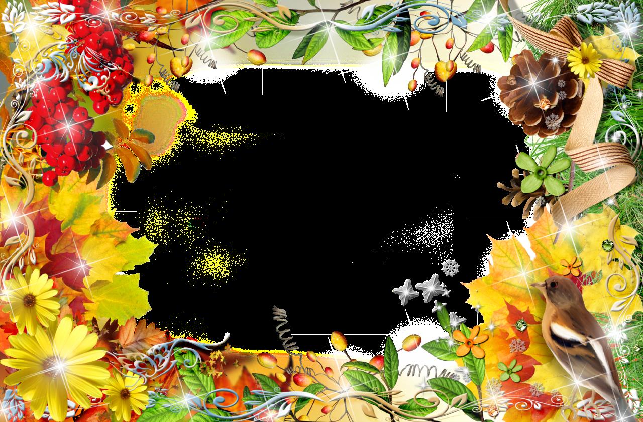 Открытка для фотошопа осень, днем рождения