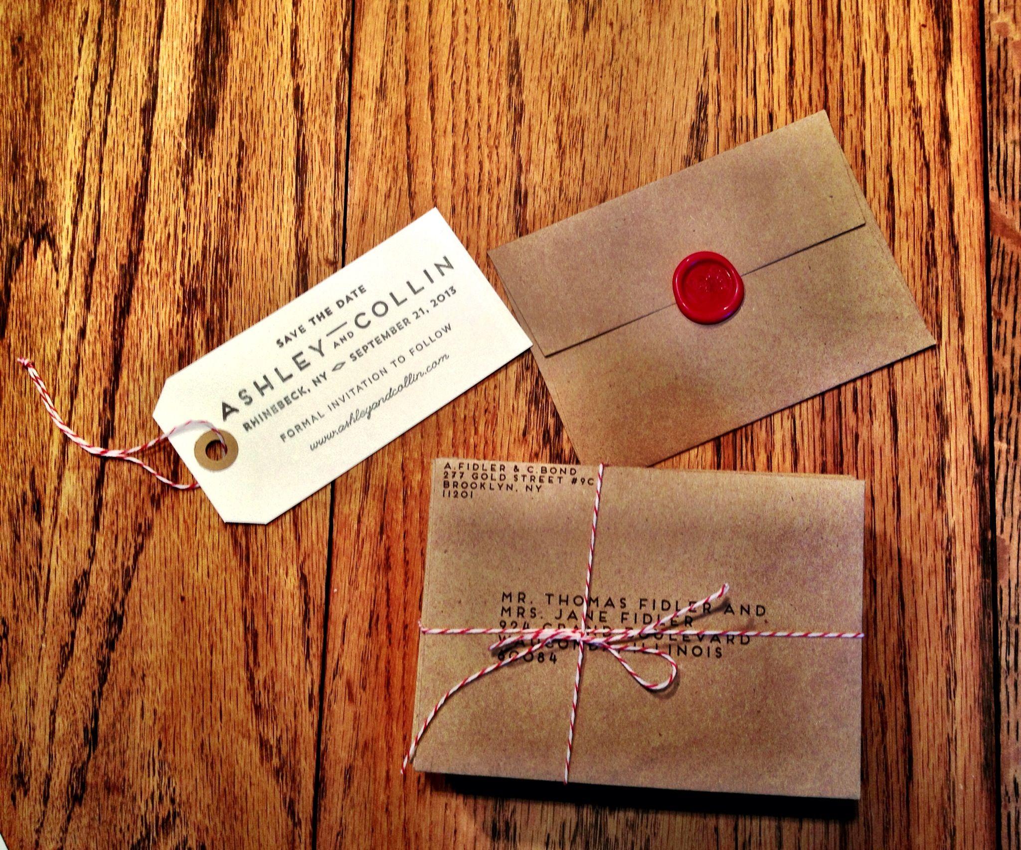 Diy Paper Wedding Invitation: DIY Wedding Invitation And Save The Date