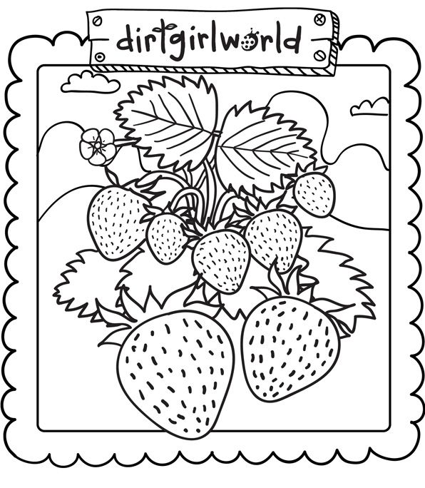 Strawberry-Printable-Coloring-Page | vegetable garden baby shower ...